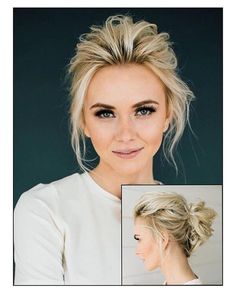 Dress up a simple hairstyle with some flawless makeup for an elegant look!✨ #elegant #makeuplover #blonde #blondeambition #blondehairdontcare #voluminous #hair #updo #hairdressing #messybun #beautiful #gorgeous #openingday #wrestlemania #thewalkingdead #harmonizers #nationalvolleyballday #fishing #spring #seniorsunday #mealprep #occupycnn #ldsconf #bassrushmassive #jamfest #shamrockshuffle