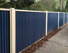 Corrugated Steel Fencing Exterior Diy Ideas Fence