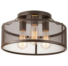 "View the Progress Lighting P3452 Swing Flush Mount Ceiling Fixture with 3 Lights - 15"" Wide at LightingDirect.com."