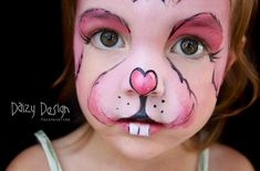 Easter Bunny Face Paint--too cute!!