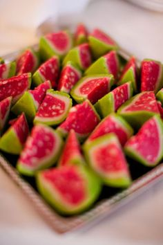 Indian Mithai Watermelon Sweets! Reminds Team Gemoro of the precious stone inlays in our Diwali Collection jewellery.