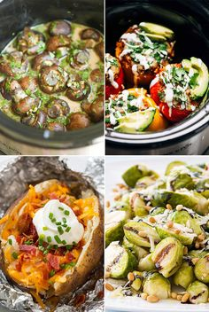"""We often think a slow cooker's job is to cook the main event of a meal, but did you know you could make all of these marvelous side dishes in a slow cooker — """"baked"""" potatoes, stuffed peppers, and macaroni and cheese included? These 20 recipes will inspire you to use your slow cooker in a whole new way."""