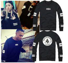 2014 hood by air hba pif men's street clothing velvet hood fashion in full hoodie hba pif  a hood pullover sweatshirt coat