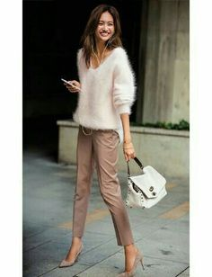 How to rock the casual chic look Mode Outfits, Chic Outfits, Fashion Outfits, Womens Fashion, Fashion Trends, Urban Fashion, Fashion Heels, Pretty Outfits, Dress Fashion