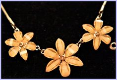 Mocha Thermoset Floral Themed Set of Necklace & Earrings by GenusJewels on Etsy