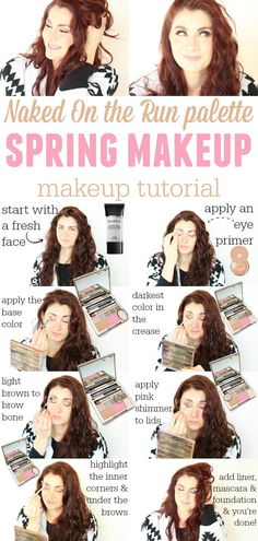 naked on the run palette spring makeup tutorial