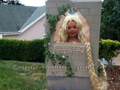 Cool Father Daughter Homemade Couple Costume: Rapunzel in the Tower...