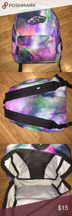 Vans galaxy backpack! 🌟🌌 Super cute for school or anywhere! Love this backpack and it's vibrant colors but I don't need it anymore. Great condition. No holes, rips, or stains. All zippers work. Vans Bags Backpacks