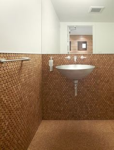 Pictures   The Offices Of Buck ONeill Builders, Inc   Bathroom Is Fitted  With Cork Flooring, And Cork Penny Tile On The Walls   Architizer