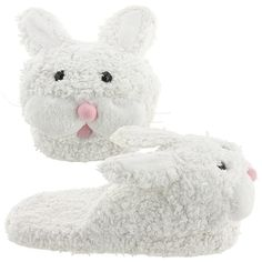 6fdcfd272e0 How can you not love these fuzzy white bunny slippers  Bunny Slippers