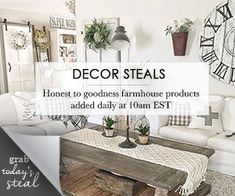 The best daily deals site for farmhouse decor for cheap! Get cheap farmhouse decor that you can't find anywhere else! Painted Furniture, Bedroom Furniture, Diy Wood Signs, Deco Floral, Look Vintage, Benjamin Moore, Farmhouse Decor, Country Decor, Paint Colors