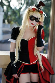 Steampunk Harley Quinn cosplay  More Comic Art @ http://groups.google.com/group/Comics-Strips & http://groups.google.com/group/ComicsStrips & http://groups.yahoo.com/group/ComicsStrips &  http://www.facebook.com/ComicsFantasy & http://www.facebook.com/groups/ArtandStuff