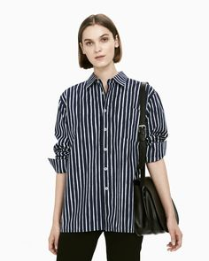 The Jokapoika shirt is a classic button-up shirt in the dark blue and blue Piccolo pattern. It has a loose fit with cuffed long sleeves, chest pocket and straight hem with side slits. Made of pure cotton with a soft, brushed hand feel. Marimekko Dress, Fashion 2020, Blue Tops, Button Up Shirts, Unisex, Shirt Dress, Pure Products, My Style, Long Sleeve