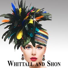 Designer Hats, Funky Hats, Types Of Hats, Feather Hat, Stylish Hats, The Crown, Kentucky Derby, Headpieces, Bold Colors