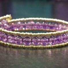My daily challenge - day 77 Bangles, Bracelets, Challenge, Wire, Purple, Instagram Posts, Handmade, Jewelry, Bra Tops