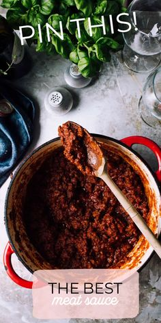 Classic Meat Sauce | Foodess | Make it #paleodiet or #whole30 by serving with zoodles!