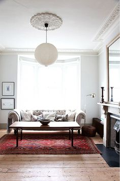 Victorian living room with bright window