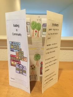 Building A Community - fun foldable. Students get to build their own community :)