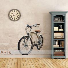 (3571f) Nálepka na bielu stenu - Bicykel   ARTSABLONY.SK