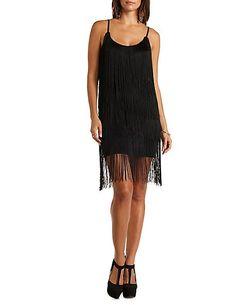 Tiered Fringe Bodycon Dress#charlotterusse #charlottelook