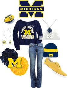 """""""GO BLUE!!!!!"""" by jancarlson on Polyvore"""