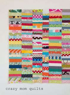 Gorgeous and madly scrappy. crazy mom quilts: how to make an envelope backed pillow
