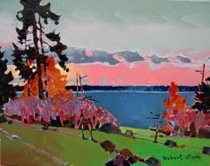 by Robert Genn Canadian Painters, Canadian Artists, Landscape Art, Landscape Paintings, Meaningful Paintings, Modern Art, Contemporary Art, Trip The Light Fantastic, Traditional Paintings