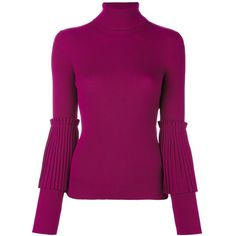 Salvatore Ferragamo Turtle Neck Jumper ($754) ❤ liked on Polyvore featuring tops, sweaters, long sleeve turtleneck, long sleeve turtleneck top, turtle neck sweater, long sleeve jumper and purple turtleneck