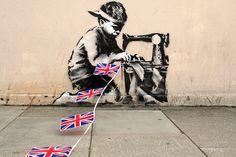 Sweatshop Patriot (Banksy, Turnpike Lane)
