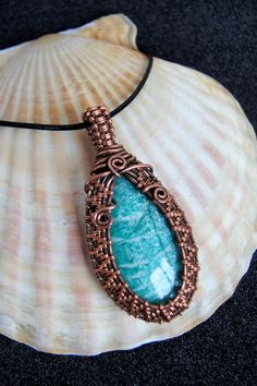 Amazonite Necklace for women. 7th anniversary gift. Copper braided stone pendant necklace. Wire woven gemstone. Wire wrapped jewelry. Unique gift for women. Wire wrap pendant. Dainty Amazonite pendant wrapped of copper wire. Copper Jewelry, Wire Jewelry, Copper Wire, Wire Wrapped Necklace, Wire Wrapped Pendant, Stone Necklace, Pendant Necklace, 7th Anniversary Gifts, Unique Gifts For Women