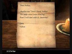 Skyrim Letters between Farkas and Vilkas - YouTube