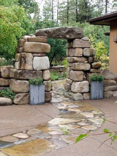 From complete master plans, conceived as a comprehensive whole, to conceptual plans and sketch plans for individual elements, Charles can help you realize your specific desires for your home landscape. Garden Entrance, Garden Arches, Garden Gates, Backyard Plan, Backyard Landscaping, Patio Design, Garden Design, Outdoor Stone, Dry Stone