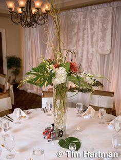 Table Arrangements from Fuji Floral Design - http://www.fujifloraldesign.com/tablearrangements.html