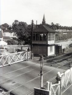 1961 Warmley railway station, signal box, South Gloucestershire | by brizzle born and bred Old Pictures, Old Photos, Bristol England, Old Train Station, Standard Gauge, City Of Bristol, British Rail, Train Rides, Avon