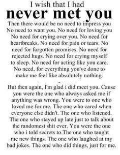 Never meet you