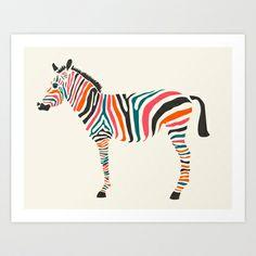 Zebra Art Print by Jazzberry Blue - $19.00
