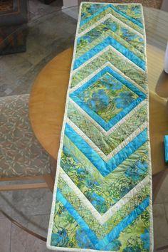 100 percent cotton batik table runner pieced by Floridabaglady2, $60.00
