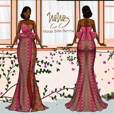 Illustration for Irene 💞💞. She consulted with us and we delivered just what she wanted 👌🏾. Book with us now let's make your dream a reality… African Prom Dresses, Latest African Fashion Dresses, African Print Fashion, Africa Fashion, Ankara Fashion, African Prints, African Fabric, Short Dresses, African Dress Patterns