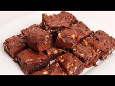 Triple Chocolate Caramel Brownies Recipe - Laura Vitale - Laura in the Kitchen Episode 333 - YouTube