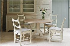 Neptune - Chichester Pedestal Oak Table + Chairs  .