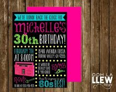 Neon Blacked Out 80s Themed Birthday Party by OohLaLlew on Etsy