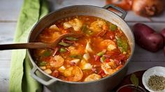 This famous bright-red Hungarian soup is prepared with fish, bell peppers, tomatoes and spicy paprika.