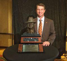 "Clemson Coach Dabo Swinney was named the Paul ""Bear"" Bryant Coach of the Year on January 13, 2016."