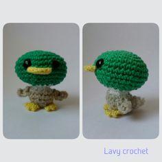Amigurumi duck plush crochet toy kawaii