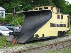 Unusual Snow Plow Railroad Car by bob194156, via Flickr. Wow weird!