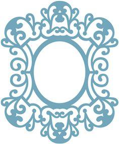 Silhouette Online Store: ornate frame
