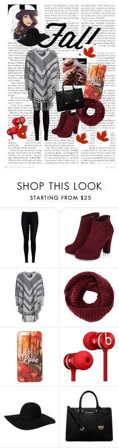 """Fall is coming #ready #for #fall #zoella"" by sof-p ❤ liked on Polyvore featuring Miss Selfridge, ONLY, TOMS, Beats by Dr. Dre, Monki and MICHAEL Michael Kors"