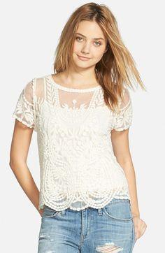 short sleeve lace tee / hinge