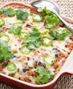 Our own version of Tex-Mex: Quinoa & Monterey Jack. Yum!