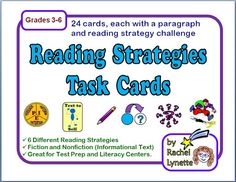 Classroom Freebies: Reading Strategy Task Cards